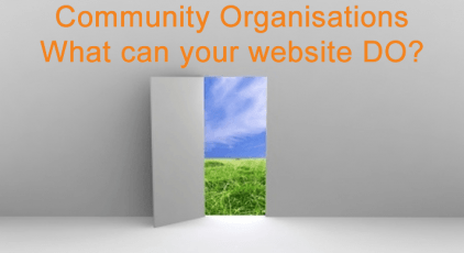 Community Organisations Websites - What can it DO?