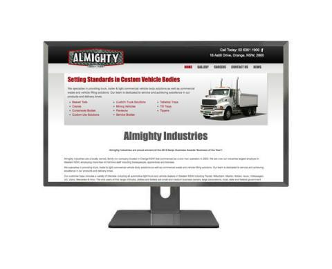 All Mighty Industries Website Design