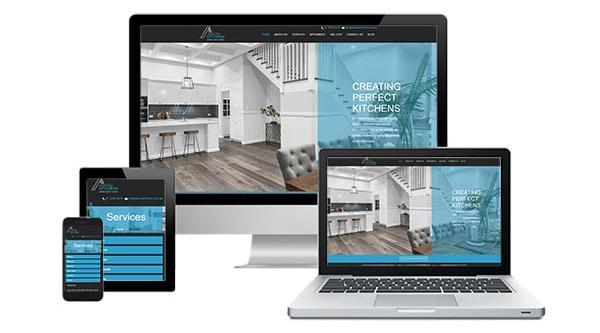 Aspire Kitchens responsive web design