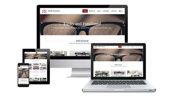 Brille Eyewear Mobile Responsive Web Design