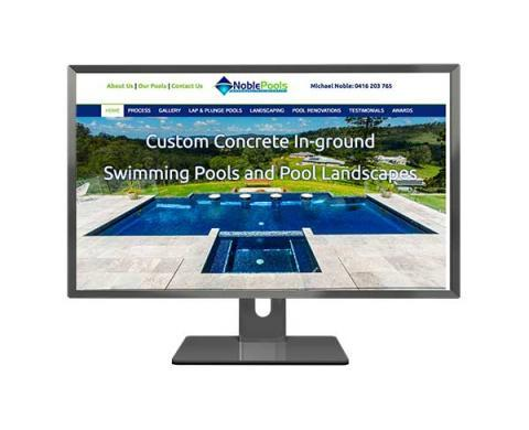 Noble Pools Mobile Responsive Web Design