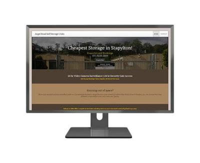 Storage Units Mobile Responsive Web Design