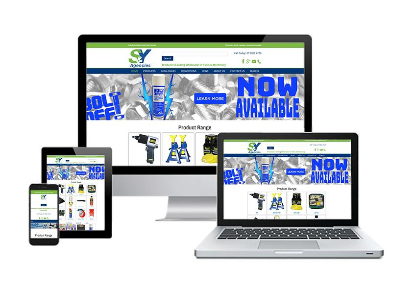 S & Y Agencies - Joomla website portfolio