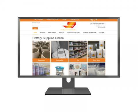 Pottery Supplies Online - ecommerce website